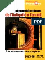 Bibliothèque Tangente HS 30 Histoire