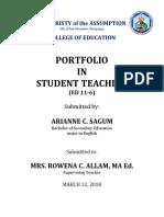 Portfolio Teamplate for Educ 4