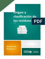 2-Origen y Clasificacion de Los Residuos
