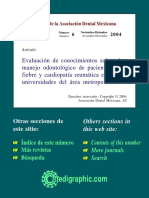 PROTOCOLO DE TRATAMIENTO ODONTOLÓGICO PARA PACIENTES CON FIEBRE REUMATICA