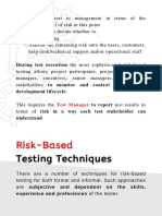 Risk Based Testing Techniques