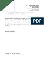 Scribd Letter to the Indian Finance Minister Regarding Morganist Economics.