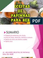 AS MELHORES RECEITAS DE PAPINHAS PARA BEBÊ