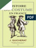 Histoire Du Costume en France - Quicherat