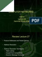 Computer Network - CS610 Power Point Slides Lecture 28