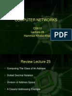 Computer Network - CS610 Power Point Slides Lecture 26