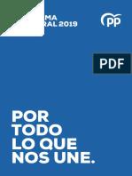 Pp Programa Electoral 10-N 2019