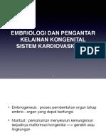 1.3 Embriologi Dan Pengantar Kelainan Kongenital Sistem Kardiovaskular