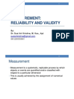 1_Measurement Reliability and Validity