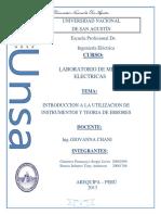 Laboratorio de medidas eléctricas  1 y 2
