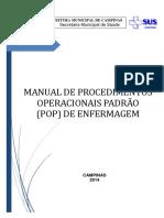 Manual Procedimentos Operacionais Padrao (POP) Enfermagem Versao 01-10-2014