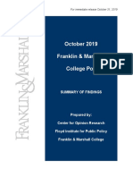 F&M Poll Release October 2019