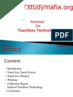 CSE Touchless Touchscreen Technology