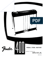 Fender pedal steel guitar manual