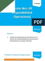 Sesión 9 Disponibilidad Operacional OEE