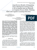 Validity of Learning Devices Results of Integrating Scaffolding Forms in Biological Learning Using Learning Cycles 5E in Students that are Different Learning Styles to Complete Process Skills, Thinking  Skills and Cognitive Learning Outcomes