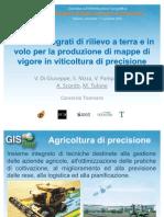 Mario Tulone e Alessandro Scordo - Sistemi integrati di rilievo a terra e in volo per la produzione di mappe di vigore in viticoltura di precisione