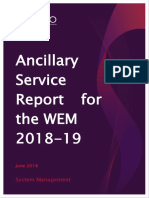 2018 Ancillary Services Report