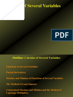 Calculus of Several Variabales