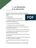 Tema 13 – La Dimensión Moral de La Educación.