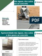 Agressividade das águas, dos solos e dos gases ao concreto.ppt