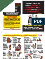 Panfleto da Reforma da Previdência da CUT-MG
