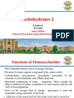 Lecture 6 - Carbohydrates 2
