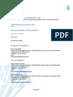 Bijl2b_protocol Template Retrospectieve Studie