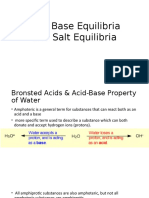 Acid and Salt Equilibria