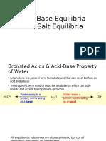 Acid and Salt Equilibria