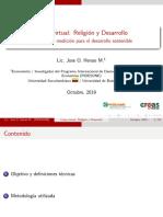Metodos de medición para el desarrollo sostenible - Jose Oscar Henao Monje