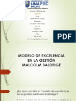 Modelo de Excelencia en la Gestion Malcolm Baldrige
