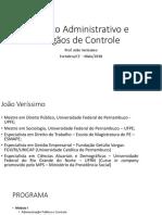 direito administrativo e orgãos de controle