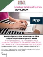 Signature Nutrition Program Workbook(1)