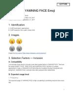 Yawning Face Emoji Proposal