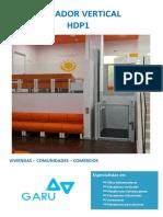 Elevador Vertical HDP1 Catálogo GARU