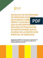 Decalogo Estándares de DDHH Para NNAA en Proceso de Evaluación RELAF