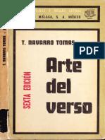 Tomas Navarro Tomas - Arte Del Verso