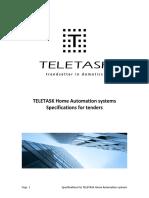 Specifications for Tenders TELETASK Systems en V32