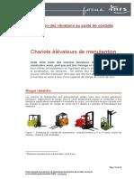 Focus Chariots Elevateurs Manutention