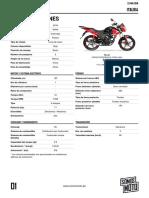 Especificaciones Italika 125z 2019