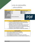 Formato de Reporte de Valoración Psicométrica