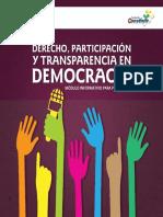 Derecho, participación y transparencia en democracia