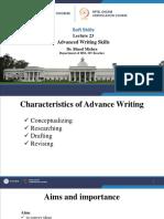 Lec-23 Advanced Writing Skills