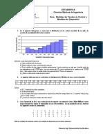 GUIA de TRABAJO. Medidas de Tendencia Central y Medidas de Dispersión