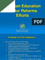 Pakistan Edu Sector Reforms Efforts-presentation