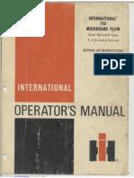 International 710 Operator's Manual