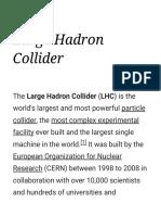 Large Hadron Collider - Wikipedia