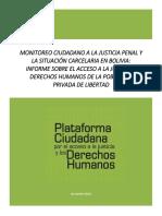Informe Monitoreo Ciudadano a La Justicia Penal y El Sistema Penitenciario