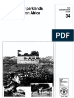 Agroforesty parklands in Sub-Saharan Africa